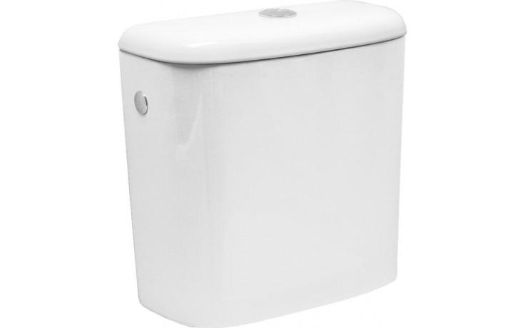 DEEP BY JIKA nádržka s dvoupolohovou armaturou Dual Flush, boční napouštění, bílá