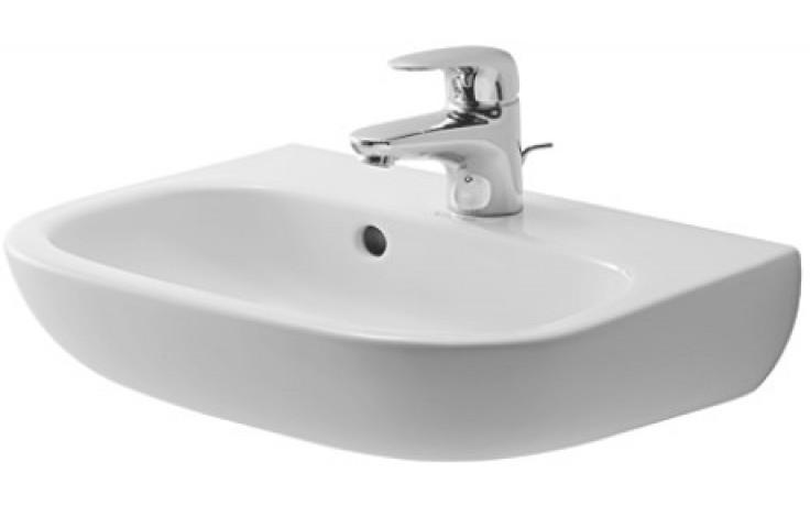DURAVIT D-CODE umývátko 450x340mm s přetokem, bílá 07054500002