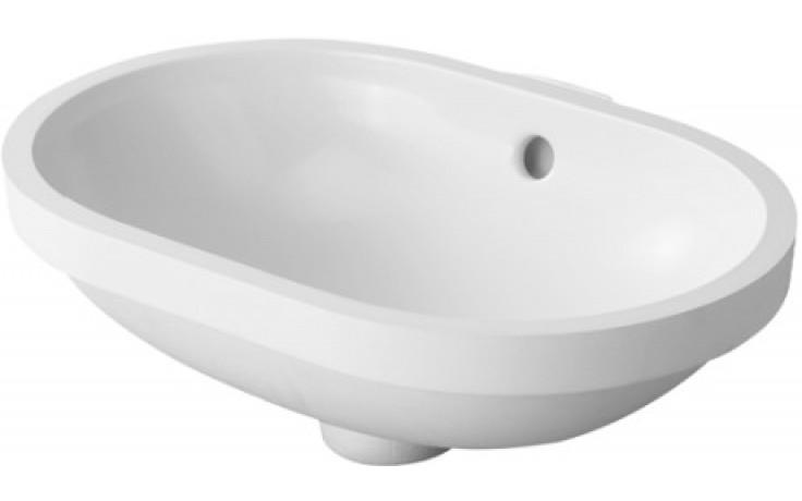 Umyvadlo klasické Duravit bez otvoru Foster vestavné 430x280 mm bílé