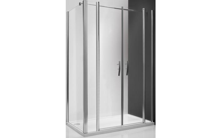 ROLTECHNIK TOWER LINE UB/1000 boční stěna 1000x2000mm, polorámová, stříbro/transparent