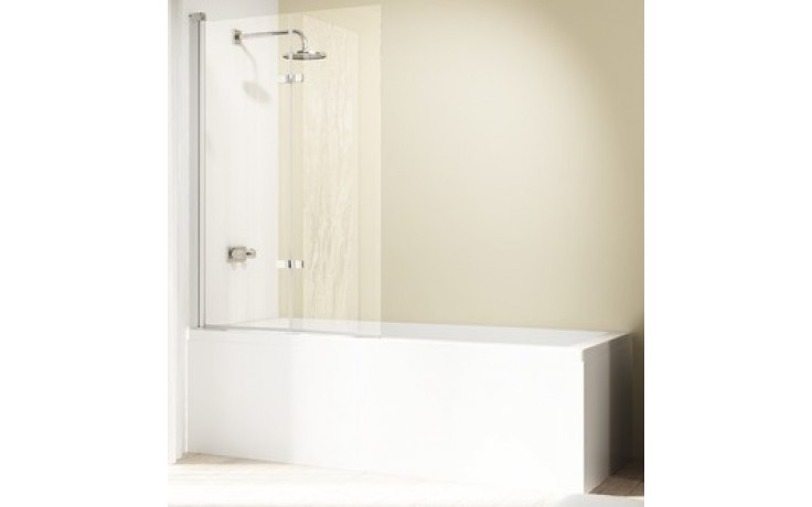 Zástěna vanová Huppe - Design elegance 1000x1500mm bílá/čiré AP