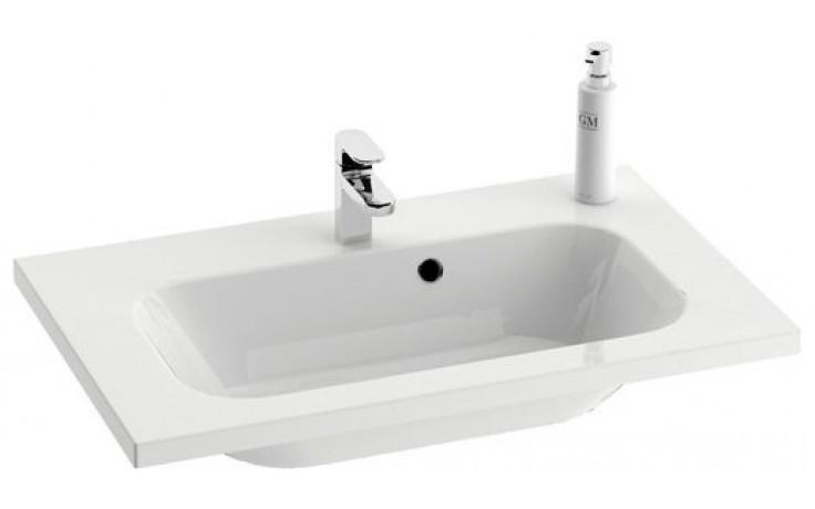 RAVAK CHROME umyvadlo nábytkové 800x490x165mm s přepadem, bílá XJG01180000