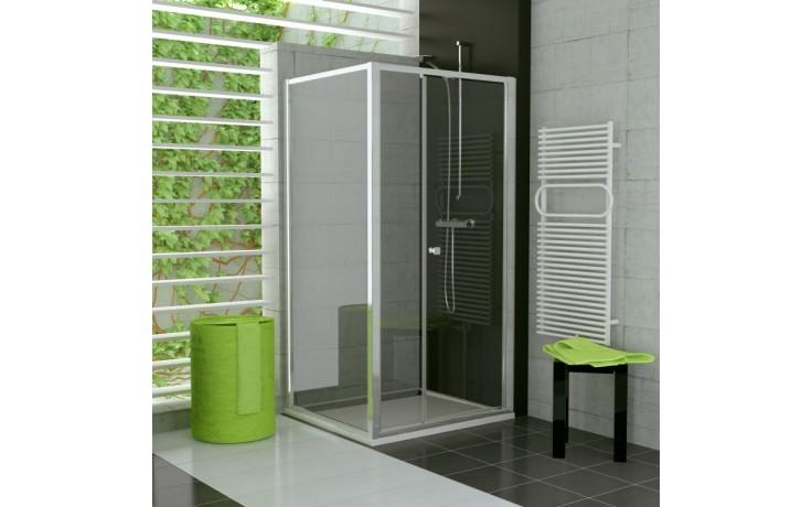 Zástěna sprchová boční Ronal TOP-Line TOPF 0800 04 44 800x1900 mm bílá/cristal perly AQ