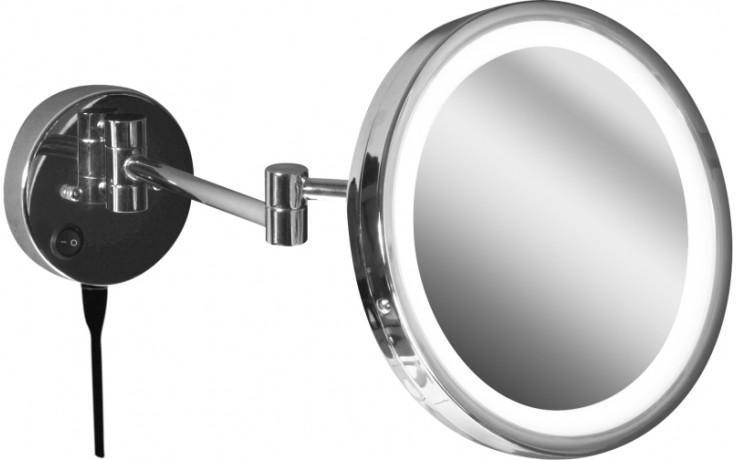 Doplněk zrcadlo Jika Generic kosmetické zrcátko podsvětlení LED pr. 25 cm chrom