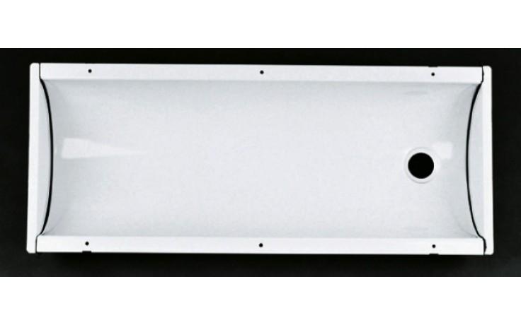 Žlab plechový-smalt Norma - Žlab bez výtoku, 1x spojovací příslušenství 1m bílý