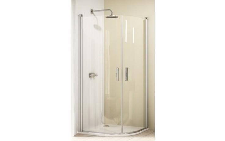 Zástěna sprchová čtvrtkruh Huppe sklo Design elegance (NUTNO OBJEDNAT 2 KS!) 1000x1900/R550 mm stříbrná lesklá/čiré AP