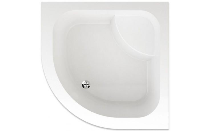 TEIKO ARGO sprchová vanička 90x90x35cm, R55cm, čtvrtkruh, akrylát, bílá