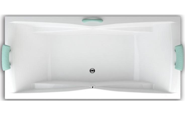 TEIKO CORONA 190/80 vana 190x80x45cm, obdélník, akrylát, bílá