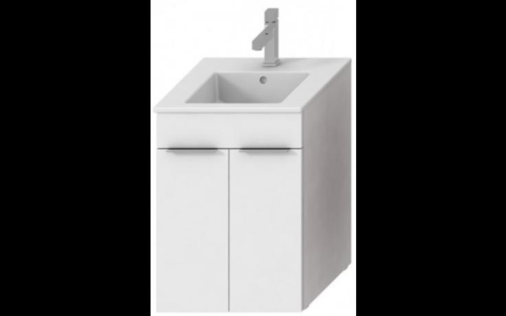 JIKA CUBE skříňka s umyvadlem 450x430x607mm, bílá/bílá 4.5362.1.176.300.1