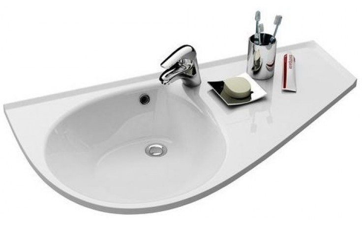 RAVAK AVOCADO COMFORT speciální umyvadlo nábytkové 950x530x190mm z litého mramoru, pravé s otvorem, bílá