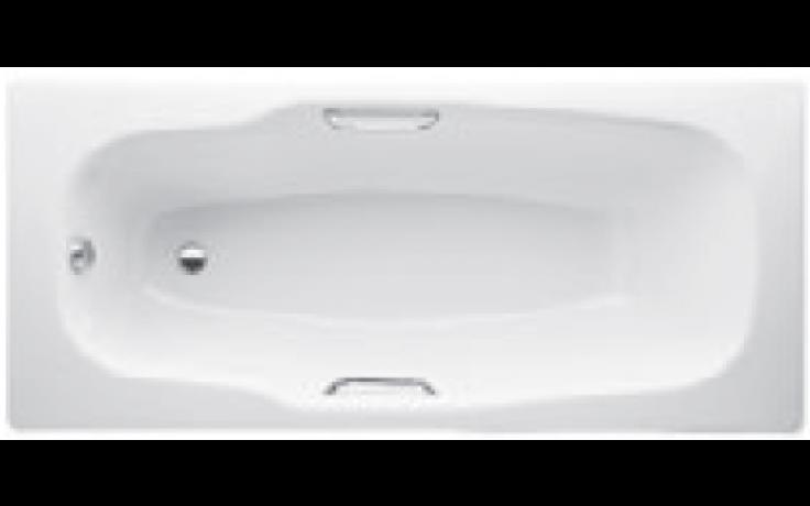 JIKA PRAGA vana klasická 1800x800mm ocelová, včetně madel, bílá