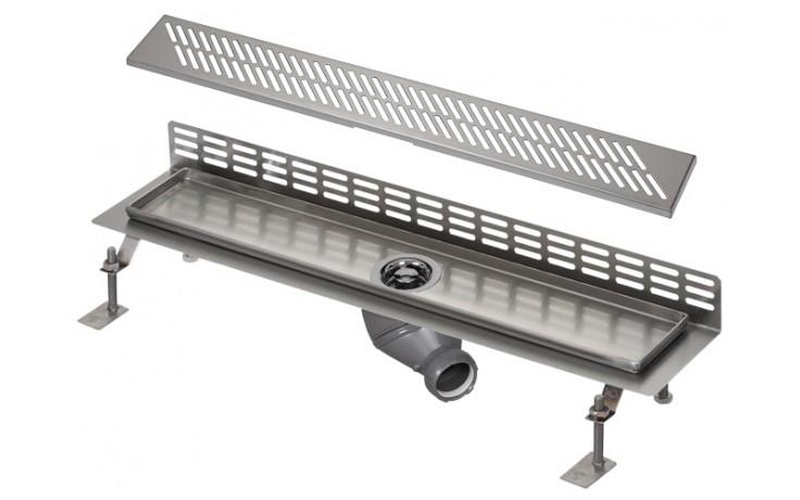 SANELA SLKN06DX koupelnový žlábek 750mm ke stěně, nerez mat