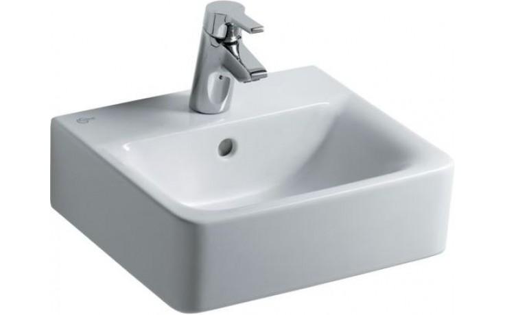 IDEAL STANDARD CONNECT CUBE umývátko 400x360mm s otvorem a přepadem bílá E713701