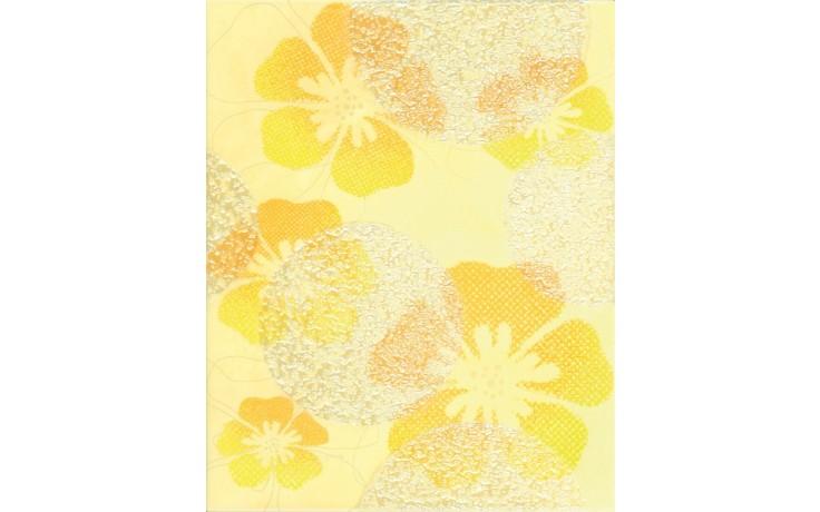 RAKO CANDY dekor 20x25cm žlutá s květy WITGW655