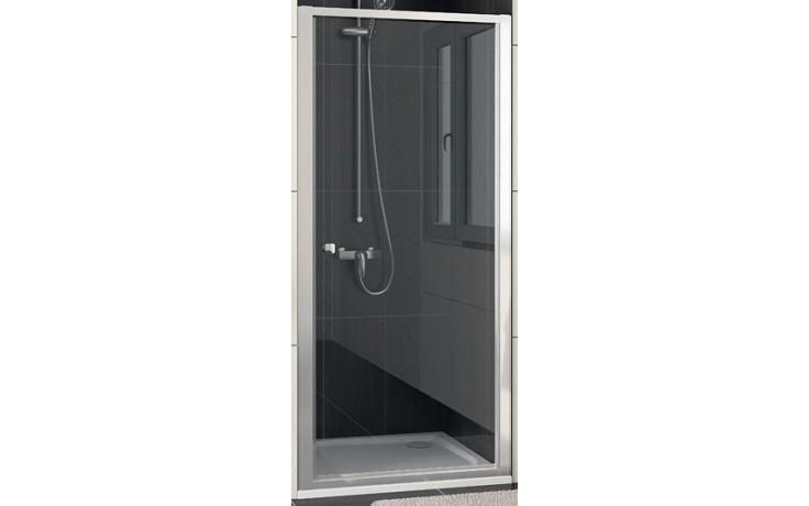 SANSWISS ECO LINE ECOP sprchové dveře 700x1900mm jednokřídlé, aluchrom/sklo Durlux