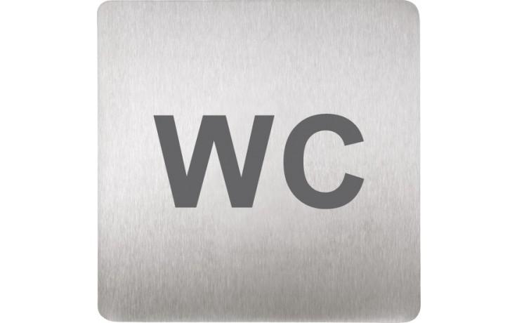 SANELA SLZN44T piktogram WC, 120x120mm, nerez mat