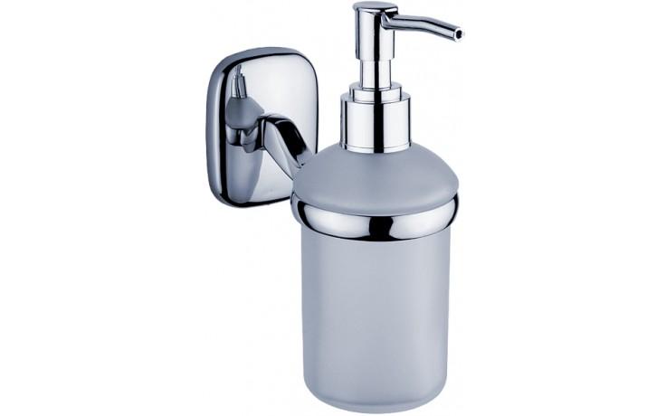 NIMCO SIMONA dávkovač na tekuté mýdlo 70x120x170mm, chrom/bílá