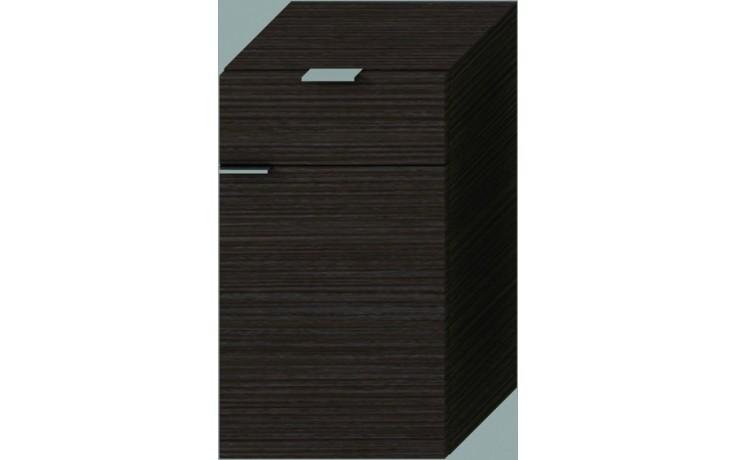 Nábytek skříňka Jika Tigo střední hluboká pravá 30x51x36,3 cm mokka