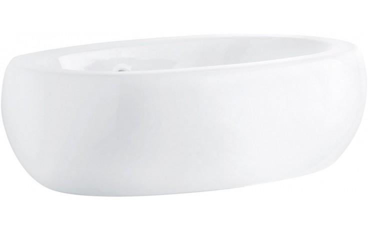 KOLO OVUM BY ANTONIO CITTERIO umyvadlo 60x40cm na desku, bez otvoru pro baterii, s přepadem, bílá L41660900