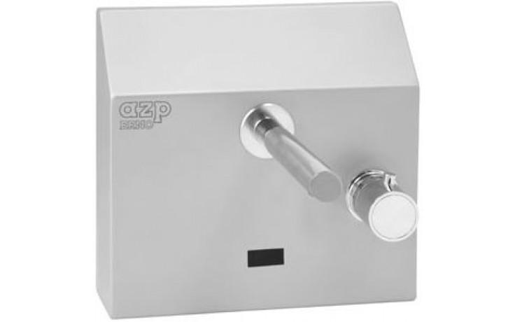 """AZP BRNO AUM 4.TV umyvadlová baterie G1/2"""" s termostatickým ventilem, nástěnná, automatická, nerez, mat"""