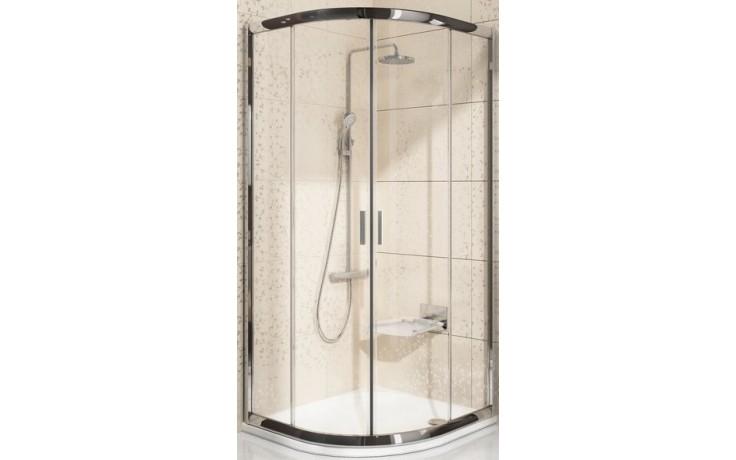 Zástěna sprchová čtvrtkruh Ravak sklo BLCP4-80 SABINA 800x800x1750 mm bílá/grape