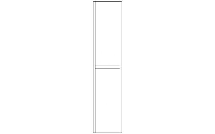 CONCEPT 600 vysoká skříňka 35x35x160cm se 2 dveřmi, závěsná, pravá, šedá/šedá C600.V1PSG