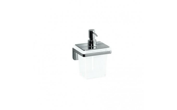 LAUFEN LB3 Zásobník na mýdlo, 100x110mm, sklo/chrom, na zeď