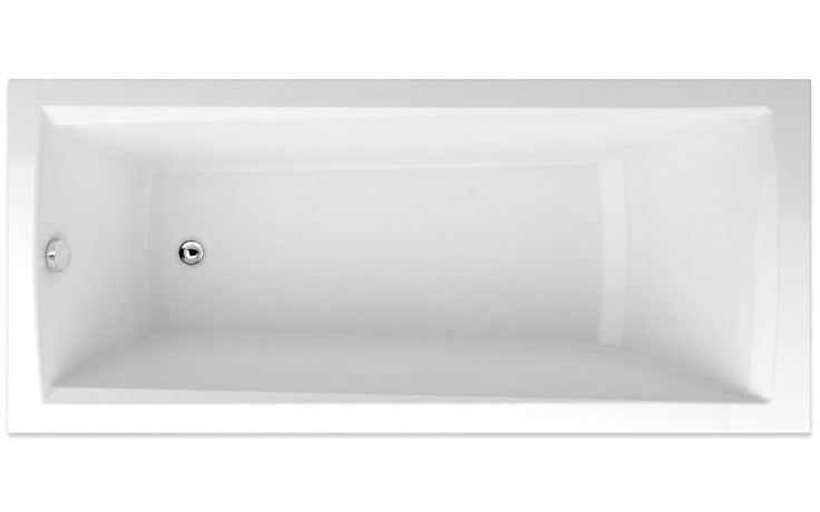 TEIKO TREND 170/80 vana 170x80x45cm, obdélník, akrylát, bílá