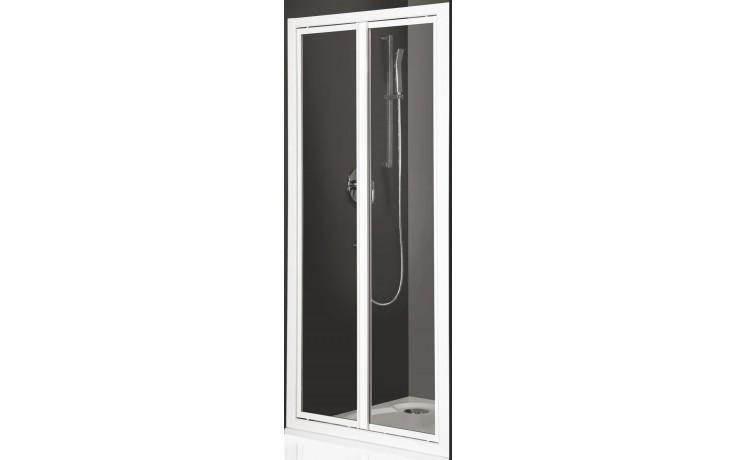 ROLTECHNIK CLASSIC LINE CDO2/900 sprchové dveře 900x1836mm dvoukřídlé pro instalaci do niky, stříbro/bark (kůra)