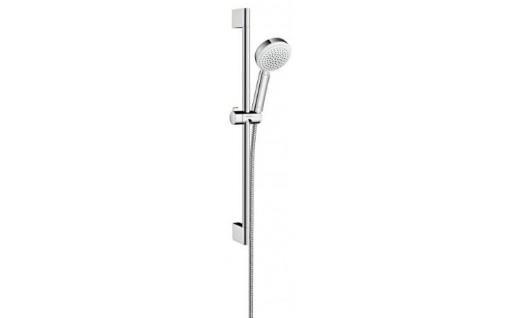 Sprcha sprchový set Hansgrohe Crometta 100 Vario l=650 mm bílá-chrom