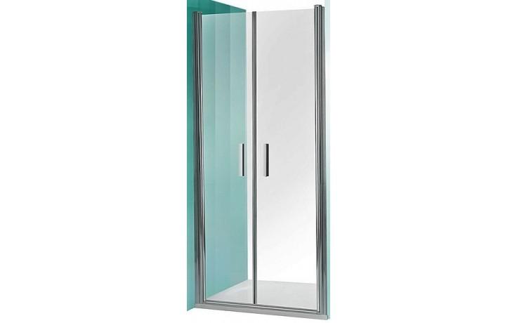 ROLTECHNIK TOWER LINE TCN2/1200 sprchové dveře 1200x2000mm dvoukřídlé pro instalaci do niky, bezrámové, stříbro/transparent
