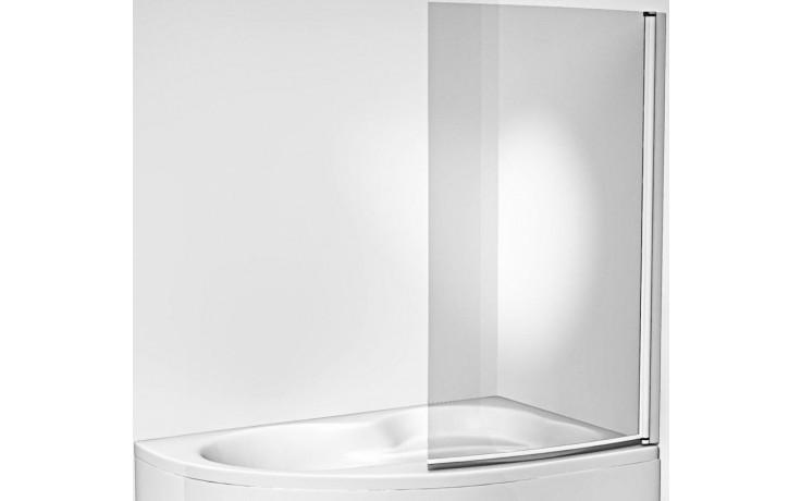 Zástěna vanová Jika - Mio levá 91x150cm stříbrná lesk-transparent