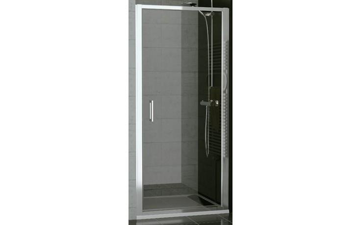 SANSWISS TOP LINE TOPP sprchové dveře 900x1900mm, jednokřídlé, aluchrom/linie sklo