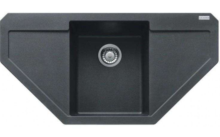 FRANKE MARIS MRG 612 E dřez 960x500mm s odkapávačem, Fragranit DuraKleen Plus/grafit