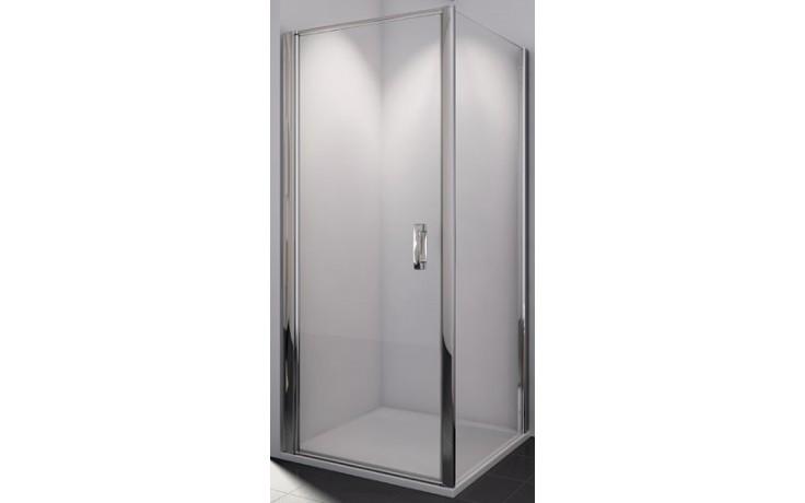 SANSWISS SWING LINE SLT1 boční stěna 1200x1950mm, matný elox/čiré sklo
