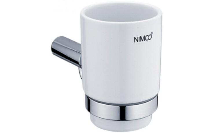 NIMCO BORMO držák sklenky 84x146x104mm chrom/bílá BR 11058K-26