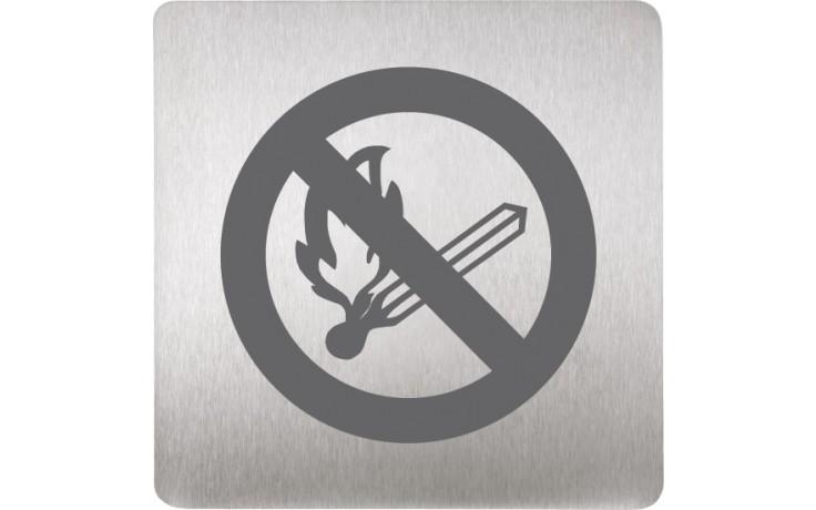 SANELA SLZN44N piktogram zákaz ohně, 120x120mm, nerez mat