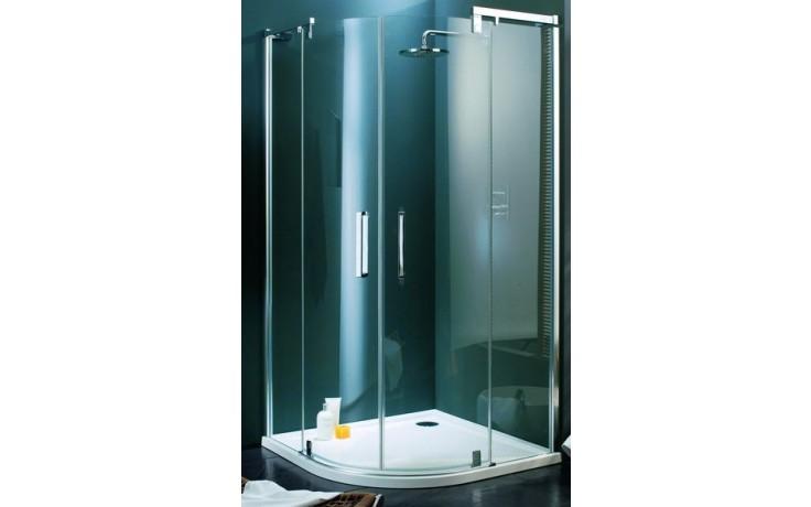 Zástěna sprchová čtvrtkruh Huppe sklo Refresh pure 1200x900x1943 mm, R500 stříbrná matná/čiré AP