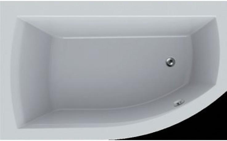 Vana plastová Teiko tvarovaná Thera New 160 levá vč. nohou 160x98x48cm bílá