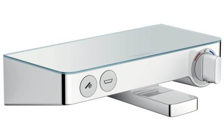 Baterie vanová Hansgrohe nástěnná termostatická ShowerTablet Select 300 s přepínačem 150mm bílá-chrom