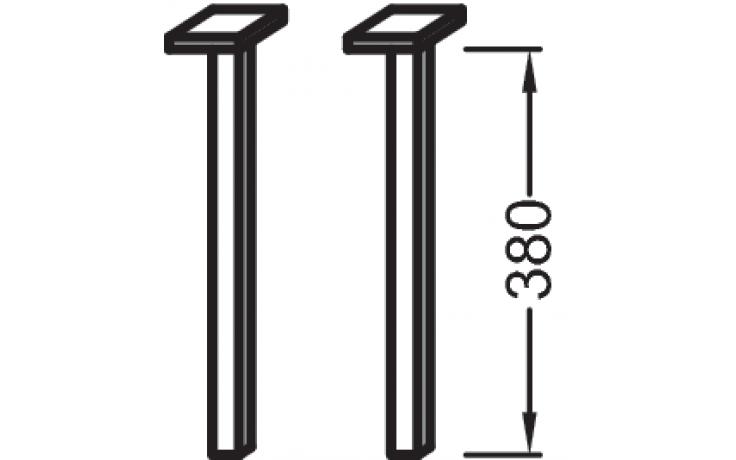 Příslušenství k nábytku Kohler - Escale nožičky 38 cm Neutral
