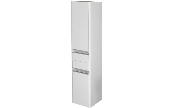 Nábytek skříňka - Concept 600 vysoká, 2 dveře, 2 zásuvky, levá 35x35x160 cm hnědá