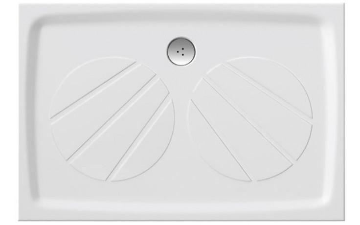 RAVAK GIGANT PRO sprchová vanička 1000x800mm z litého mramoru, extra plochá, obdélníková, bílá XA03A401010