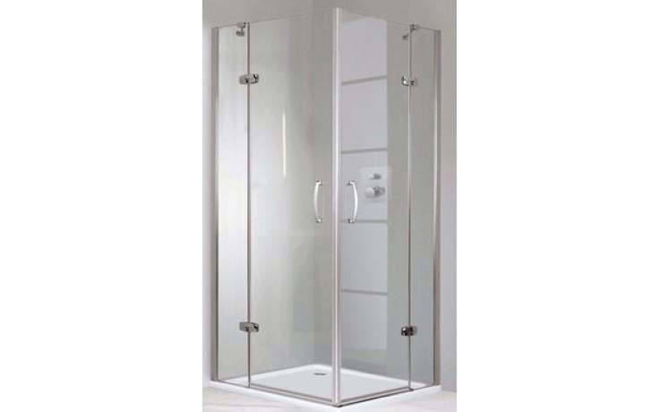 Zástěna sprchová dveře Huppe sklo Aura elegance Akce 800x1900mm stříbrná lesklá/čiré AP