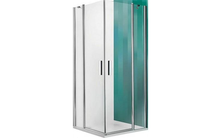 ROLTECHNIK TOWER LINE TDO1/800 sprchové dveře 800x2000mm jednokřídlé, bezrámové, stříbro/transparent