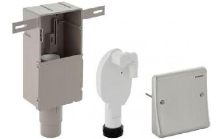 GEBERIT zápachová uzávěrka 50/56mm, pro pračku a sušičku, s krabicí pro montáž do stěny