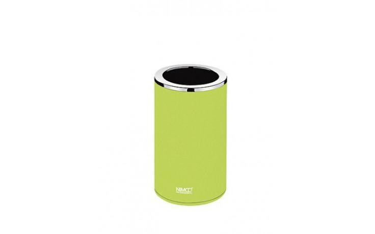 NIMCO PURE Sklenka na kartáčky 72x72x127mm žlutozelená/chrom PU 7058-75