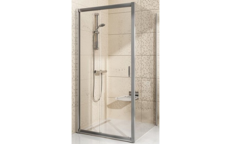 Zástěna sprchová boční Ravak sklo BLPS 800x1900mm satin/transparent