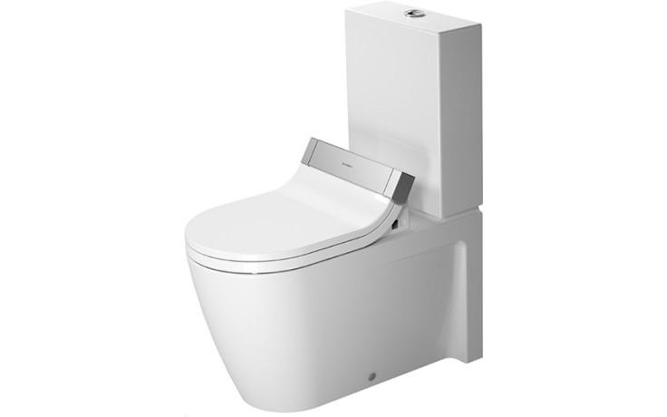 WC kombinované Duravit odpad svislý Starck 2 pro Sensowash, hl. splachování 370x725 mm bílá