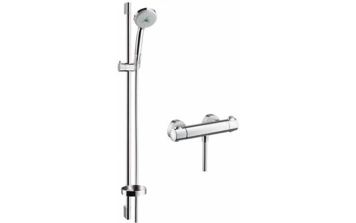 Sprcha sprchový set Hansgrohe Croma 100 Multi sprchová kombinace s termostat. bat. l=900mm chrom